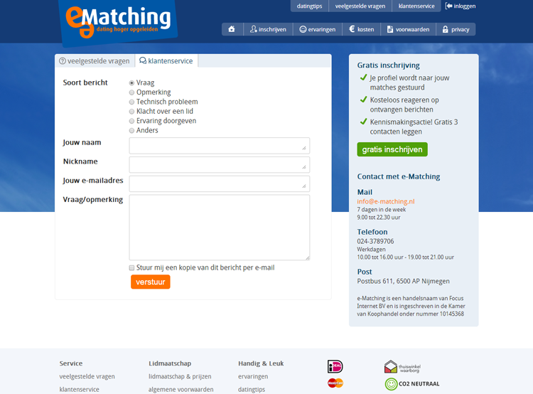 ematching contact